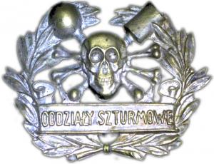 W powstaniach śląskich oddziały powstańcze na czapkach nosiły symbol czaszki