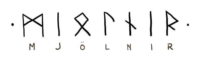 Mjölnir zapisany runami