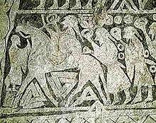 Valknut i Odyn na kamiennym malowidle